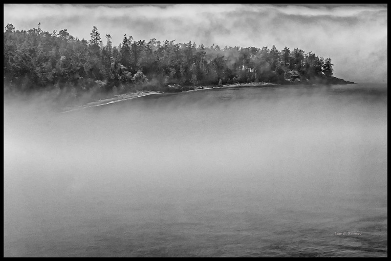 Foggy Shoreline -- Deception Pass