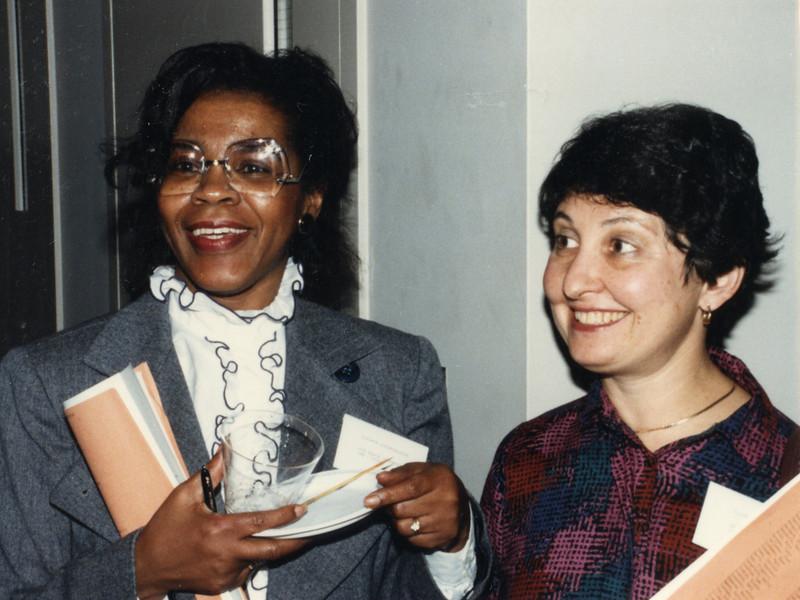 Eleanor Gildersleeve (AFGL) and Ellen Isenstein (Harvard JFK)