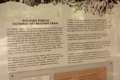 8/18/11 Whitney Portal National Recreation Trail. Eastern Sierras, Inyo National Forest, Inyo County, CA