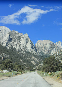 8/18/11 Ascending Whitney Portal Road from Lone Pine, Eastern Sierras, Inyo National Forest,  County, CA