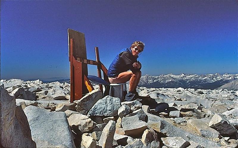 Whitney summit toilet, 1986