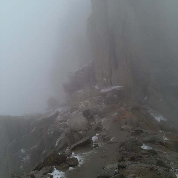 "Mt Whitney Trail at Trail Crest, July 20, 2015<br /> posted on Facebook by A.P. Esckelson<br /> <br /> <a href=""https://www.facebook.com/groups/30962451768/permalink/10153017645531769/"">https://www.facebook.com/groups/30962451768/permalink/10153017645531769/</a>"