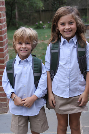 Whitt's first day of kindergarten