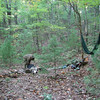 Our backpack camp up in the Chattahoochee Wilderness for a bear bow hunt.