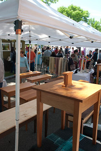 A Woodworkers booth at the Brookline Art Fair.