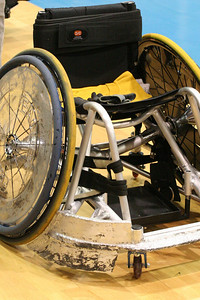 Typical gear for a quad rugby player.