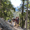 Some of our group after a water break.  The back side of Mount Charleston is in the distance.