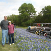Paul and Candy with Old Fords on Park Road 4