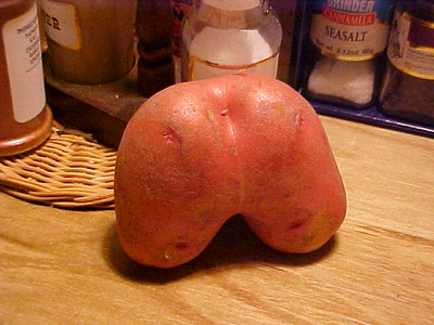 What is this?  Well, the butt crack potato of course!