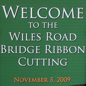 Wiles Road Ribbon Cutting