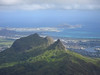 Mount Olomana with Kailua and Kaneohe Marine Corps Air Station beyond