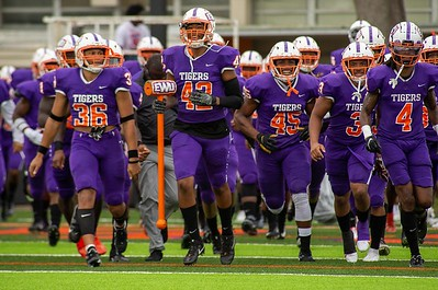 Edward Waters University takes the field for the first time at the Nathaniel Glover Community Field & Stadium on Saturday, Aug. 28, 2021. (Photo by Will Brown)