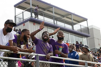 A near capacity crowd watched Edward Waters University defeat Florida Memorial 24-20 at the inaugural football game at the Nathaniel Glover Community Field & Stadium in Jacksonville on Saturday, Aug. 28, 2021.