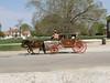 Carriage on Duke of Gloucester Street; Colonial Williamsburg, VA.