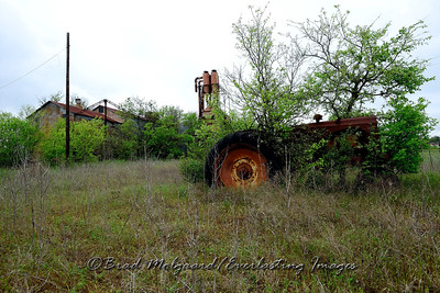 Tractor & cotton gin-Williamson County, Texas