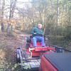 Willie unloading the Gravely on Bushwack lane