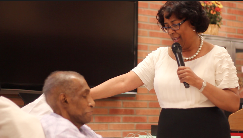 Councilwoman Jan Perry happened by.<br /> <br /> Photo by Isidra Person-Lynn