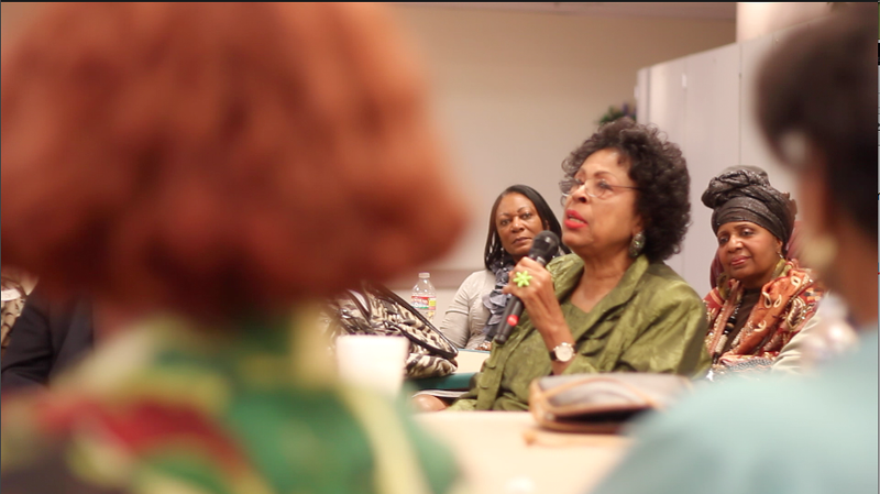 Cong. Watson telling more Willis stories after she took her seat.<br /> <br /> Photo by Isidra Person-Lynn