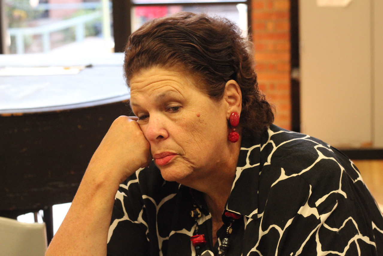 Joy Atkinson, long time political person, waiting for Willis to appear.<br /> <br /> Photo by Isidra Person-Lynn