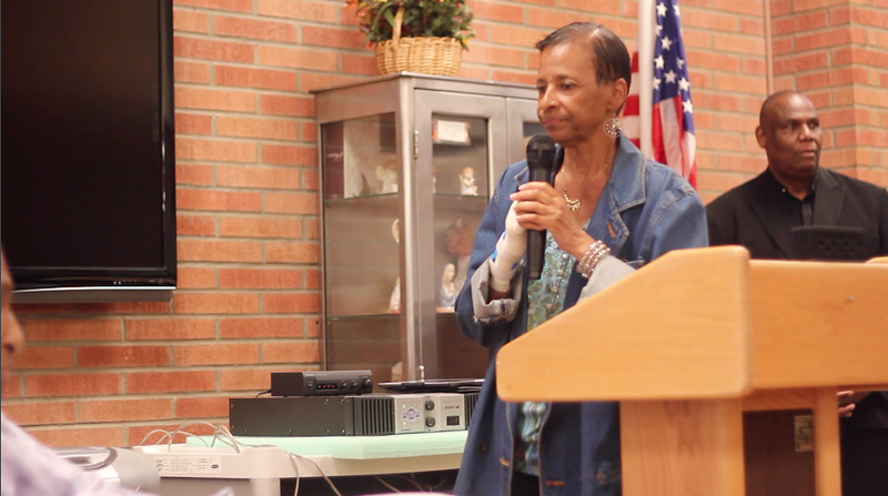 Bringing greetings from Cong. Karen Bass.<br /> <br /> <br /> Photo by Isidra Person-Lynn