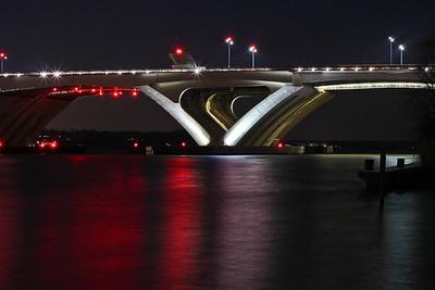 Woodrow Wilson Bridge at night-9440-2