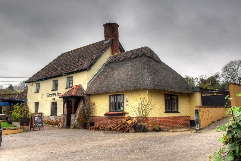 """The Drovers Inn at Gussage All Saints.<br /> The name Gussage comes from the Anglo-Saxon """"Gwysych"""", which means a bourne stream (Gwy = water; sych = dry; a stream which dries up)."""