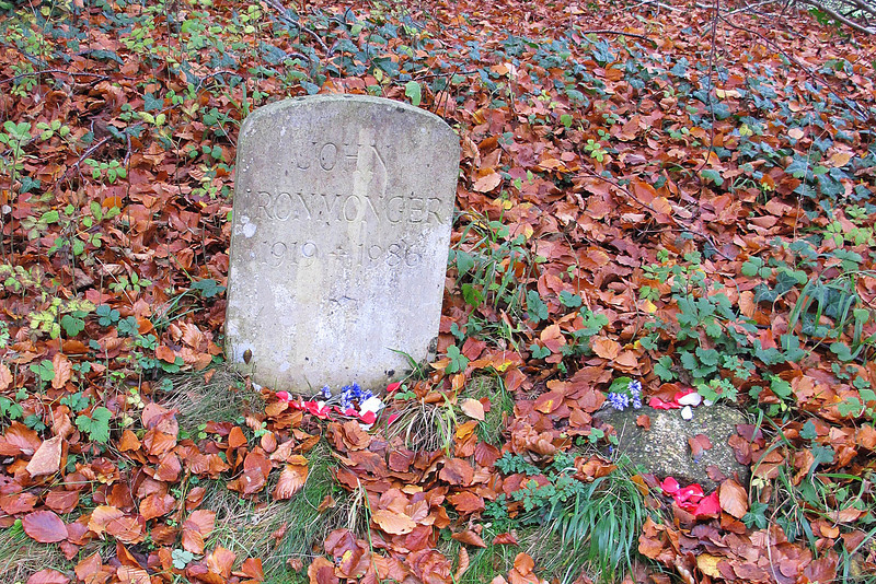 Memorial stone at Monkton up Wimborne to John Ironmonger who was the manager for Lord Shaftesbury's St Giles Estate.