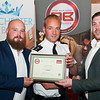 Best Bar None - Working Towards certificate presented to The County Arms by Inspector Jon Turton (centre). Wednesday 6th, September.
