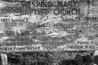 Ghost Church Sign