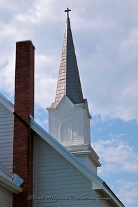 """Tall Chimney & Steeple"" - St. Michael's Lutheran Church, Missouri Synod - Winchester, Texas"