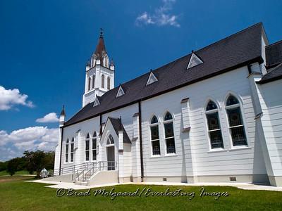 Side door sanctuary entry - St. John the Baptist-Ammannsville, Texas