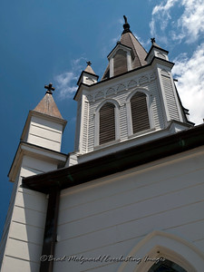 """Steeple & Four Crosses"" - St. John the Baptist-Ammannsville, Texas"