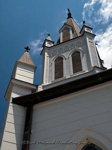 """Steeple & Four Crosses"" - St. John the Baptist-Ammannsville, Texas"