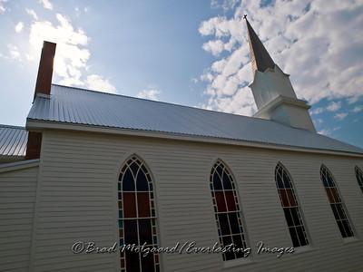 Sanctuary windows - St. Michael's Lutheran Church, Missouri Synod - Winchester, Texas