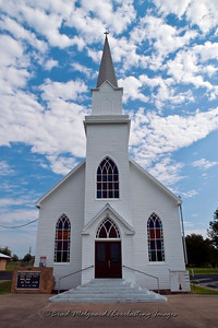 Front entry - St. Michael's Lutheran Church, Missouri Synod - Winchester, Texas