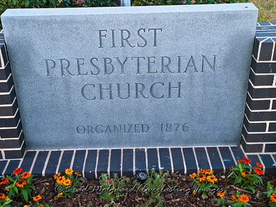 """Beginning in 1876"" - First Presbyterian Church-Giddings, Texas"