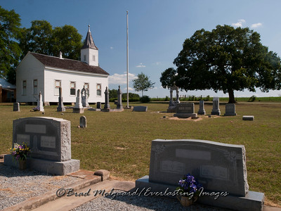 Final resting place near the church - Wesley Brethren-Brenham, Texas
