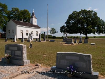 Final resting place near the church - Wesley Brethren-Brenham, Texas