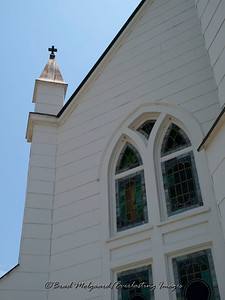 """Small Cross & Stained Glass"" - St. John the Baptist-Ammannsville, Texas"