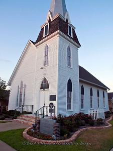 """""""Picturesque Entrance"""" - First Presbyterian Church-Giddings, Texas"""