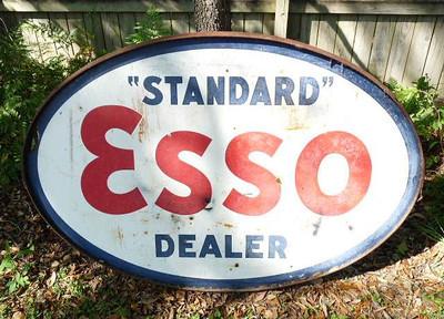 Esso dealer sign