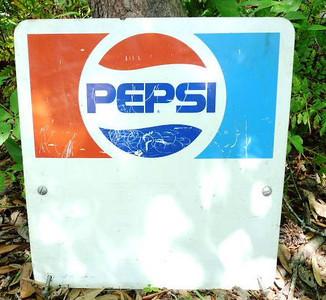 Pepsi metal sign