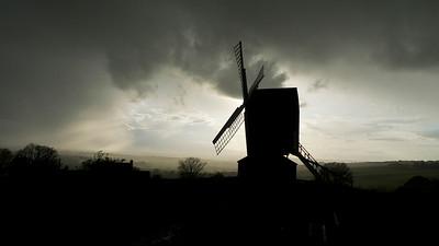 Brill windmill, Buckinghamshire at dusk. April 22.