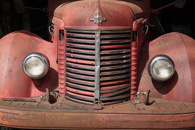 Antique Fire Engine Grill