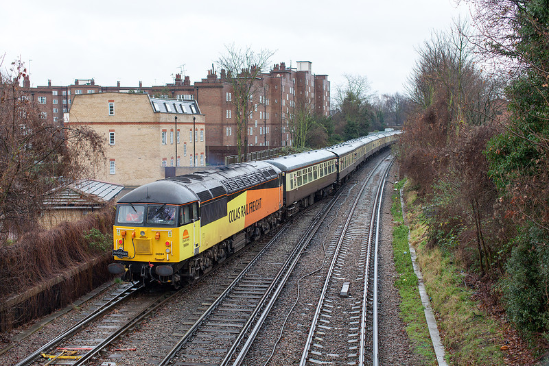 56094 makes up the rear of the 1Z57 'Thames Angerman' Pathfinder railtour at New Kew Junction.22.12.12