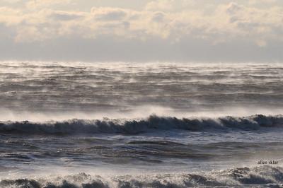 """Sea Smoke"" at assateague  Jan 22 2014. 8 degrees, 25mph wind.............Killer!"
