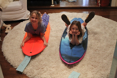 Colin and I made surf boards for the girls for Christmas!