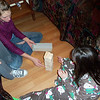 And now a little Jenga on the floor.  Don't you love those pajamas Hannah is wearing?!  She got those for Christmas.