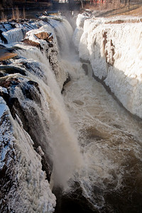 Paterson NJ - Great Falls State Park in Winter