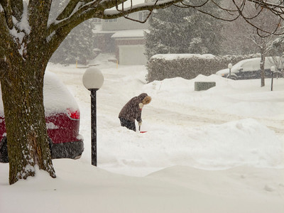 Shovelling Snow In The City
